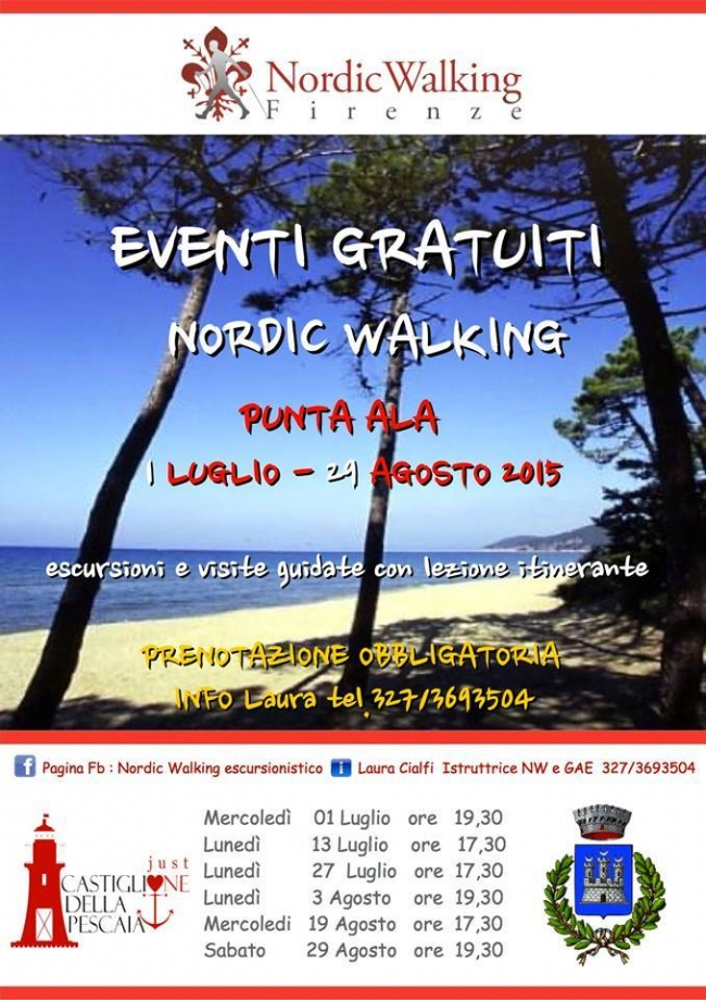 nordic walking a punta ala